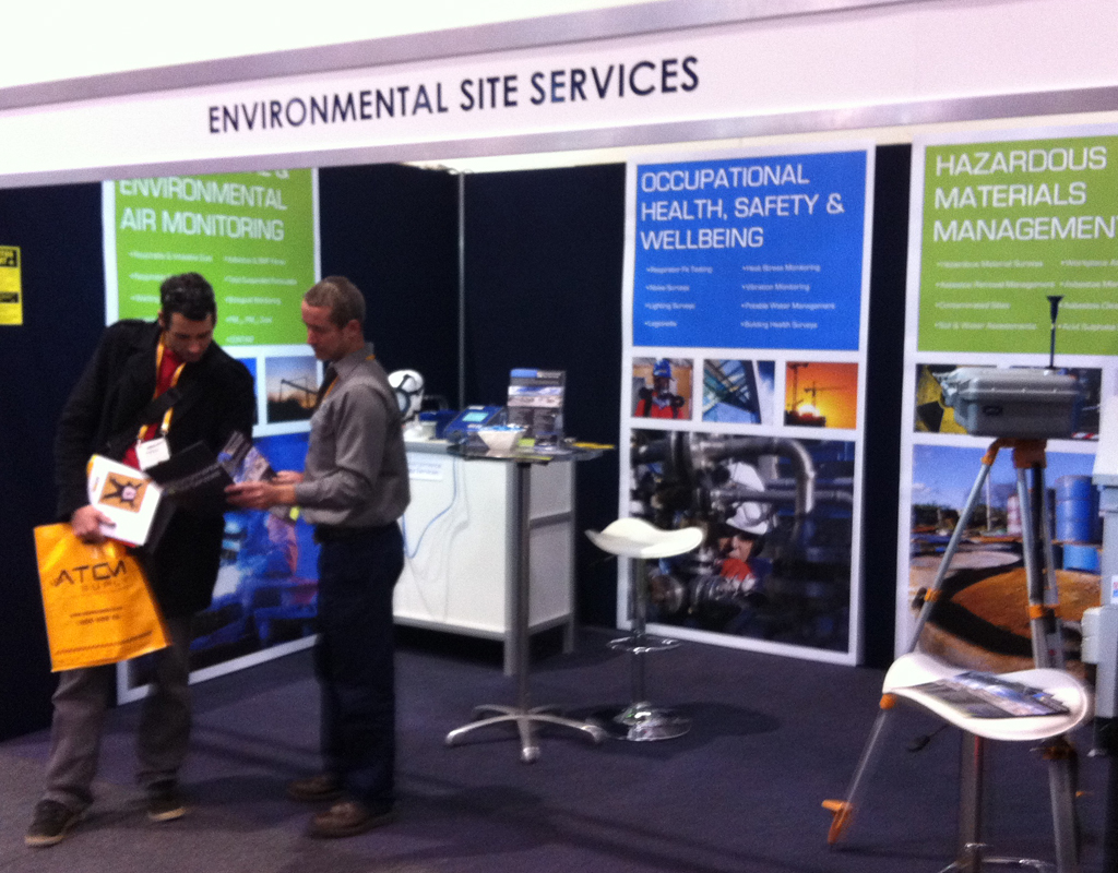 Environmental Site Services's Stand at the WA Safety Show held from the 7th-9th of November at the Perth Exhibition & Convention Centre
